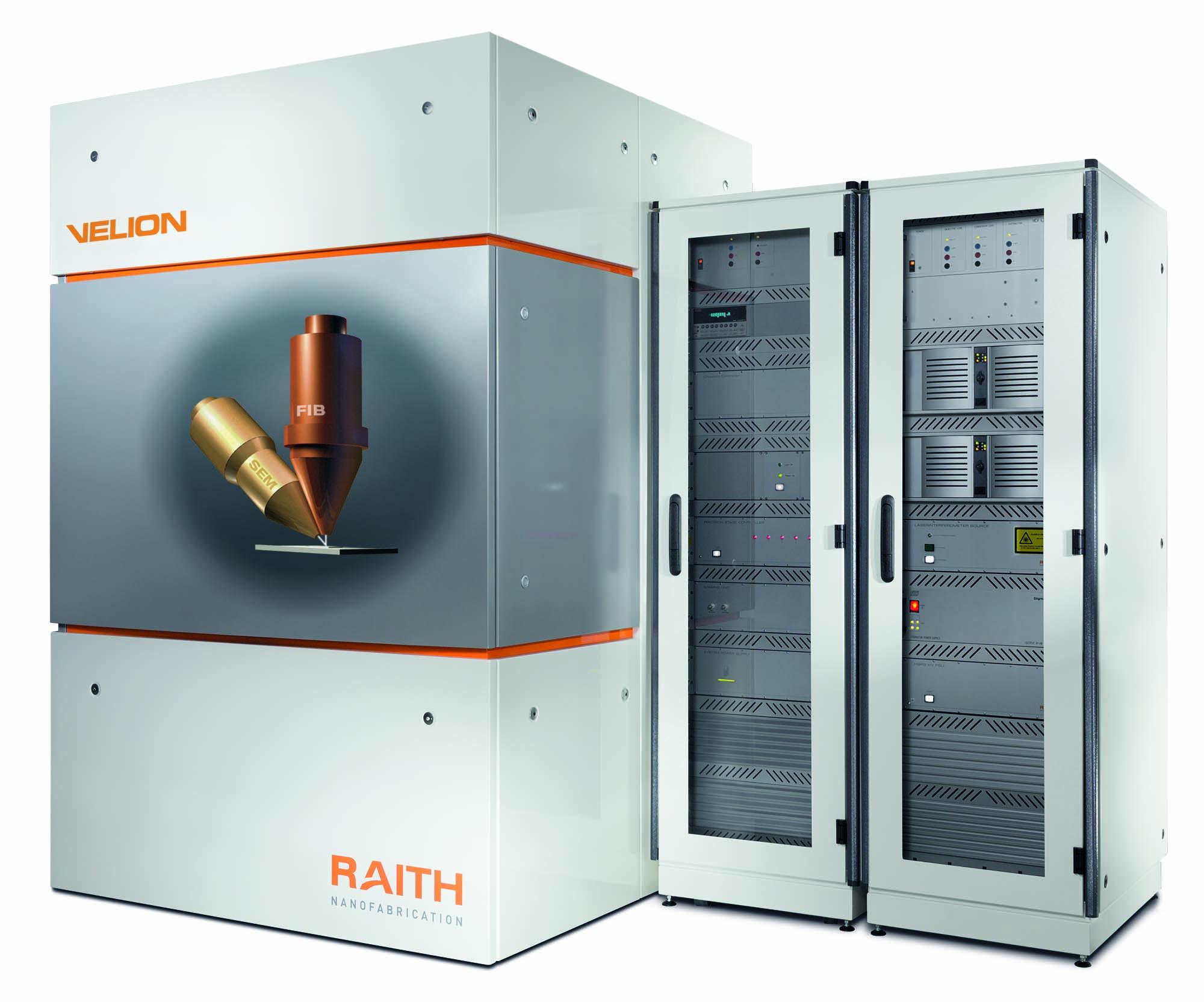 Velion, produkt firmy Raith. Nano wytwarzanie przy pomocy centrycznej kolumny FIB Cztery tryby pracy. Dwie kolumny. Jeden system.