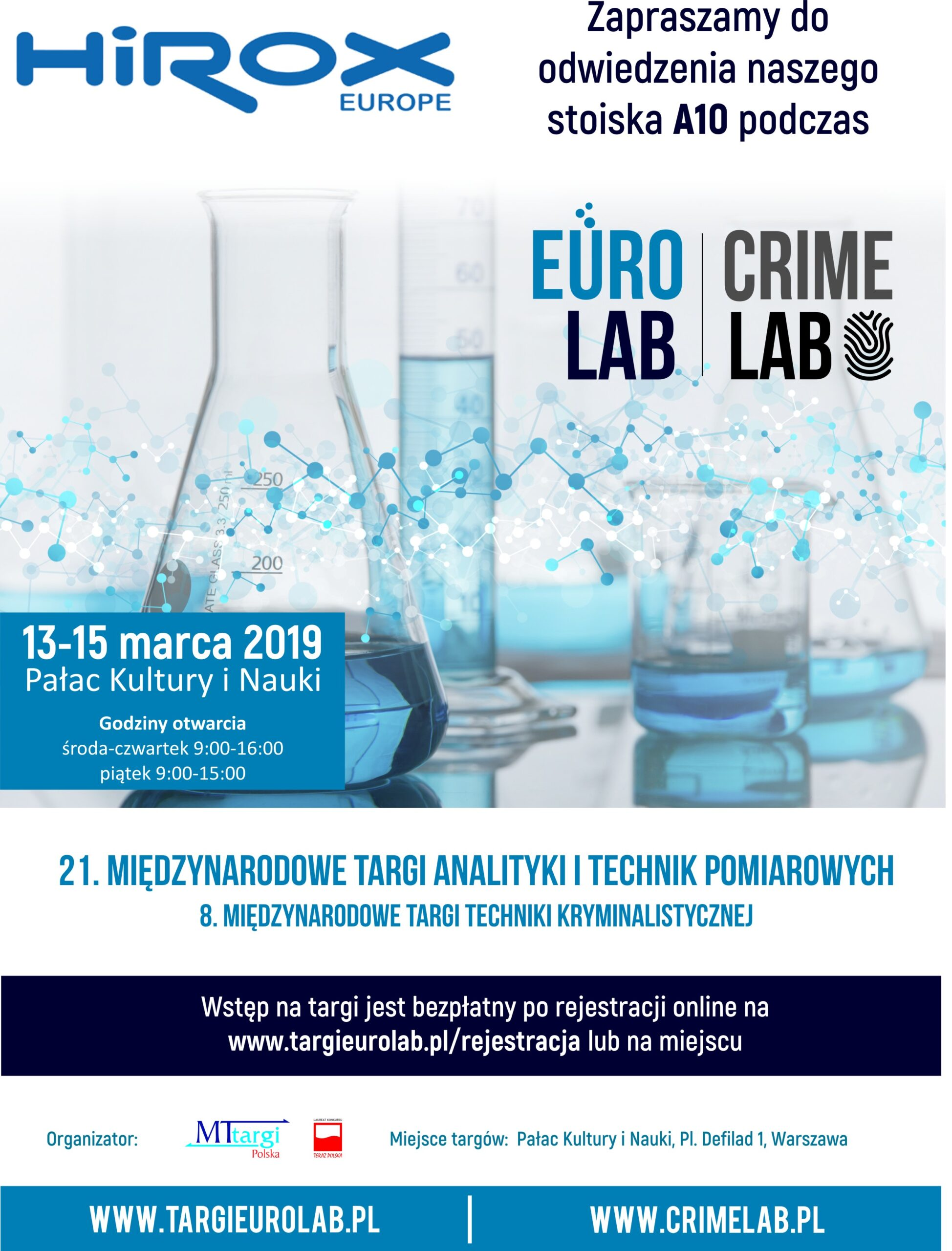Cyfrowy wideo mikroskop 3D HIROX  na Targach Eurolab & Crimelab 2019