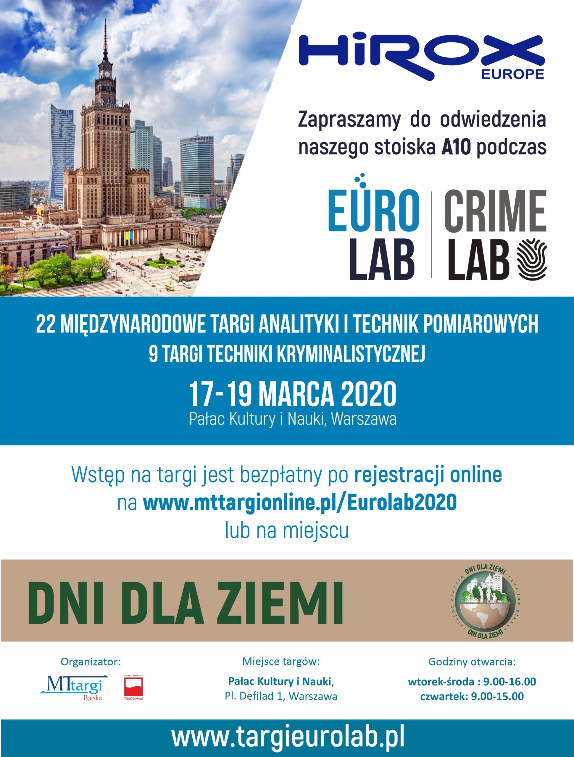 Eurolab 2020 odwołane – możliwa indywidualna prezentacja mikroskopów Hirox przez internet